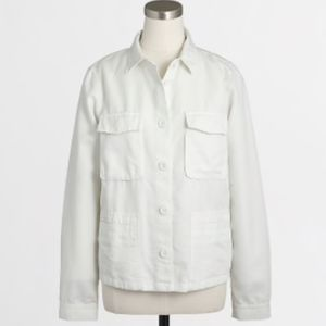 J.Crew Four Pocket Shirt Jacket Cotton Linen XS